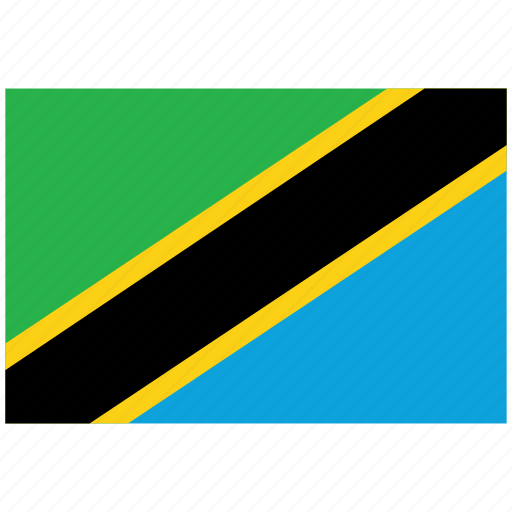 flag of tanzania, tanzania, tanzania's flag, tanzania's square flag icon