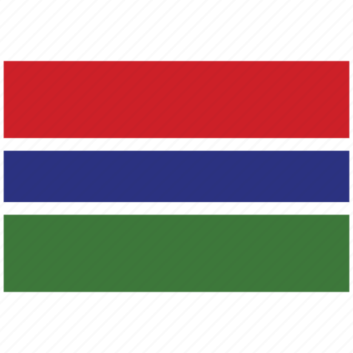 flag of the gambia, the gambia, the gambia's flag, the gambia's square flag icon