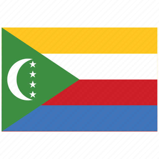 flag of the comoros, the comoros, the comoros's flag, the comoros's square flag icon