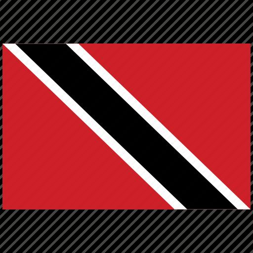 flag of trinidad, trinidad, trinidad's flag, trinidad's square flag icon