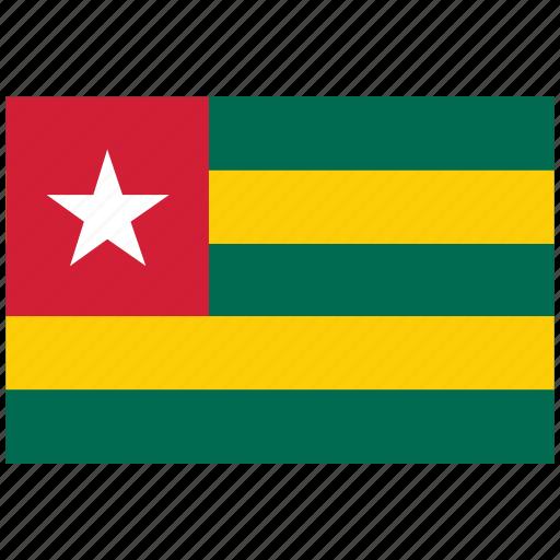 flag of togo, togo, togo's flag, togo's square flag icon