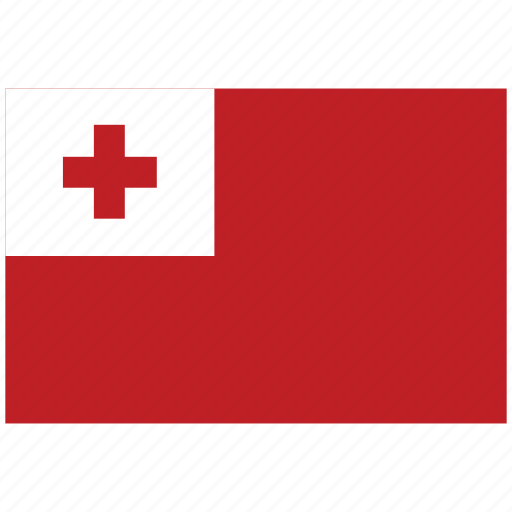 flag of tonga, tonga, tonga's flag, tonga's square flag icon