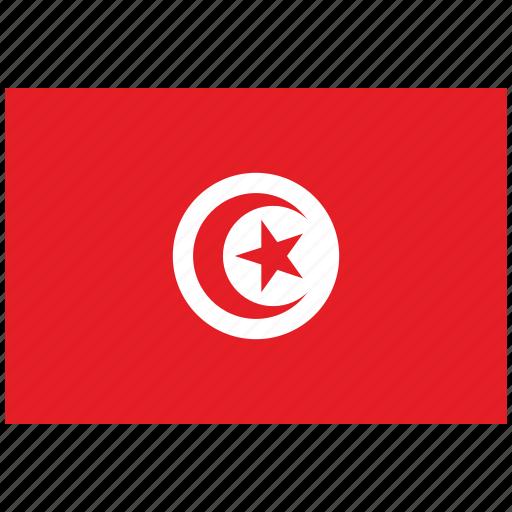 flag of tunisia, tunisia, tunisia's flag, tunisia's square flag icon