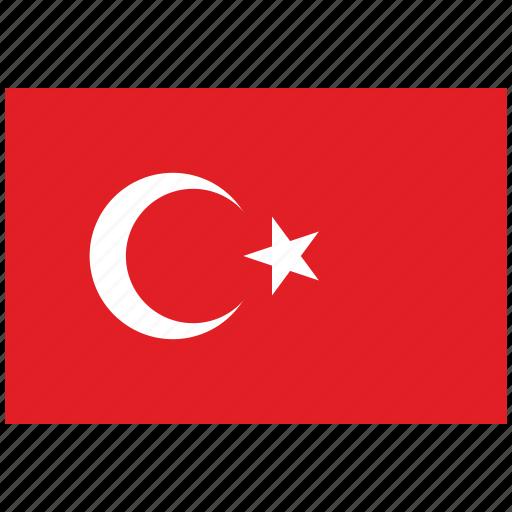 flag of turkey, turkey, turkey's flag, turkey's square flag icon