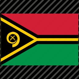 flag of vanuatu, vanuatu, vanuatu's flag, vanuatu's square flag icon