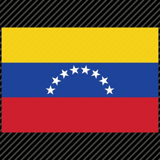 flag of venezuela, venezuela, venezuela's flag, venezuela's square flag icon