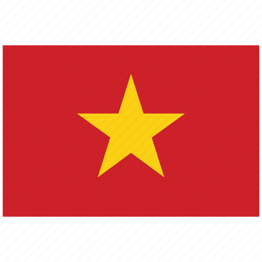 flag of vietnam, vietnam, vietnam's flag, vietnam's square flag icon