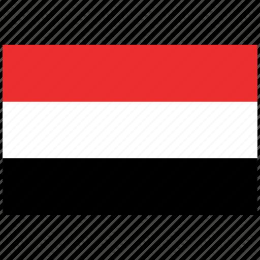 flag of yemen, yemen, yemen's flag, yemen's square flag icon