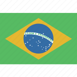 brazil, rectangle icon