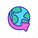 concept, contour, trade, world icon