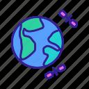 card, atlas, world, concept, cartography, map icon
