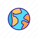 continent, contour, country, geography, map, travel, world icon
