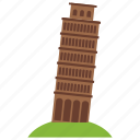 italy, of, pisa, tower icon