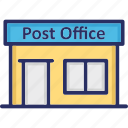 post office, postal building, postal office, postal service, sorting office icon