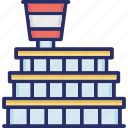 aerodrome, air terminal, airdrome, airport, airport building icon
