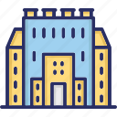 academic, educational building, educational institute, higher education, higher school icon
