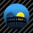 amphitheatre, colosseum, italy, rome icon