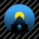 india, landmark, mahal, taj icon