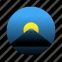fuji, japan, mountain, travel icon