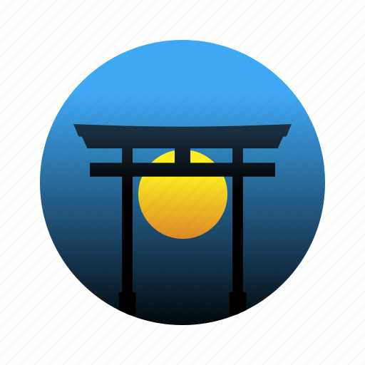 gate, japan, shinto, shrine, torii icon