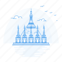 architecture, landmark, monument, pagoda, shwedagon icon