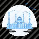 architecture, astana, landmark, monument, mosque, nur