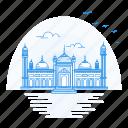 architecture, badshahi, lahore, landmark, monument, mosque, pakistan icon
