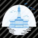 architecture, brisbane, city, hall, landmark, monument icon