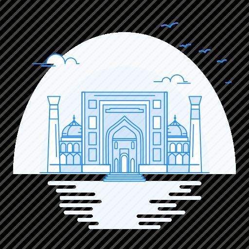 Architecture, dar, landmark, madrasah, monument, sher icon - Download on Iconfinder