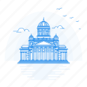 architecture, helsinki, landmark, monument, senate, square icon