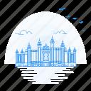 architecture, atlantis, landmark, monument, palm, the icon