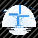 architecture, kinderdijk, landmark, monument, of, windmills