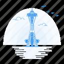architecture, landmark, monument, needle, space icon