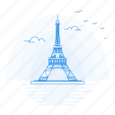 architecture, eiffel, landmark, monument, tower