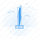 al, architecture, hamra, landmark, monument, tower icon