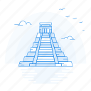 architecture, chichen, itza, landmark, monument icon