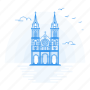 architecture, basilica, dame, landmark, monument, notre, saigan icon