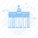 architecture, brandenburg, gate, landmark, monument