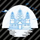 angkor, archaeological, architecture, landmark, monument icon
