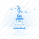 architecture, landmark, liberty, monument, statue icon