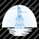 architecture, landmark, liberty, monument, statue