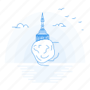 architecture, kyaiktiyo, landmark, monument, pagoda