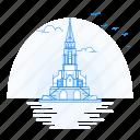 architecture, cathderal, landmark, monument, vaduz