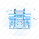 architecture, gate, india, landmark, monument, of, way icon