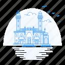architecture, landmark, monument, mosque, pir, taza icon
