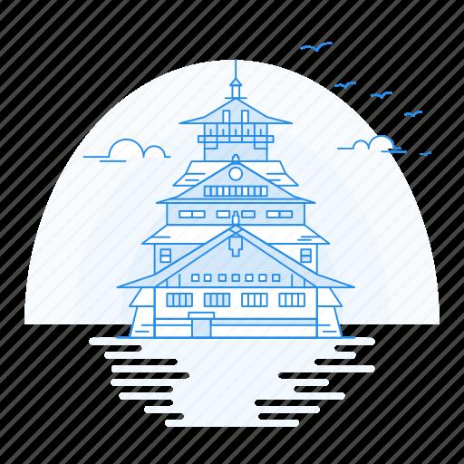 Architecture, castle, landmark, monument, osaka icon - Download on Iconfinder