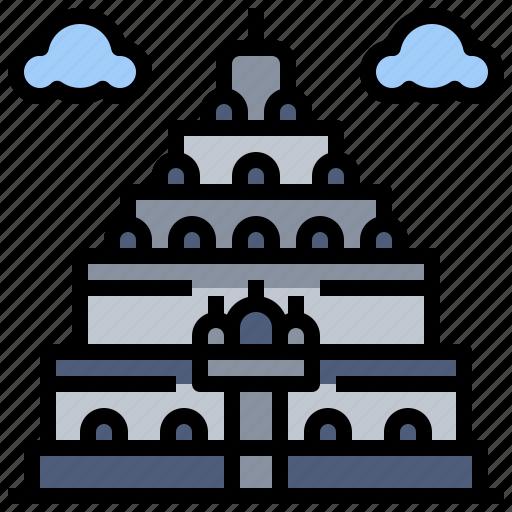architecture, buildings, city, landmark, monuments, prambanan, temple icon