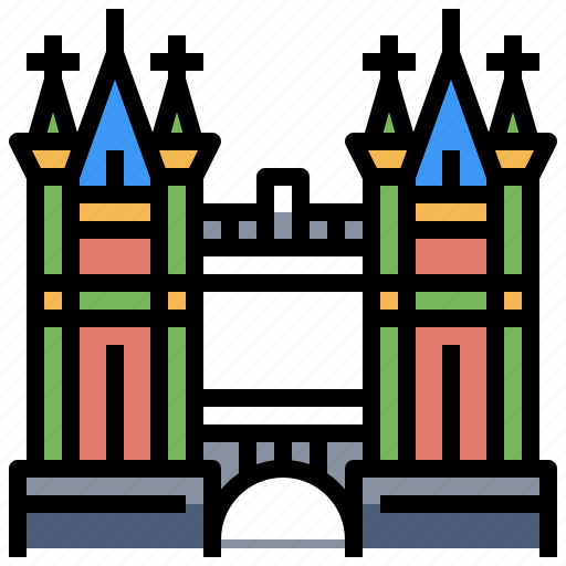 architecture, bridge, buildings, city, landmark, monuments, tower icon
