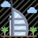 arab, architecture, buildings, burj, city, landmark, monuments icon