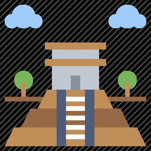 architecture, buildings, chichen, city, itza, landmark, monuments icon